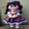 Purple doll front