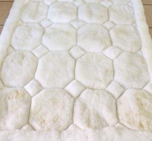 Alpaca rug white 110cm x 150cm