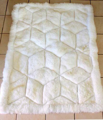 alpaca rug the latin store white