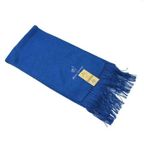 alpaca blend scarf steel blue