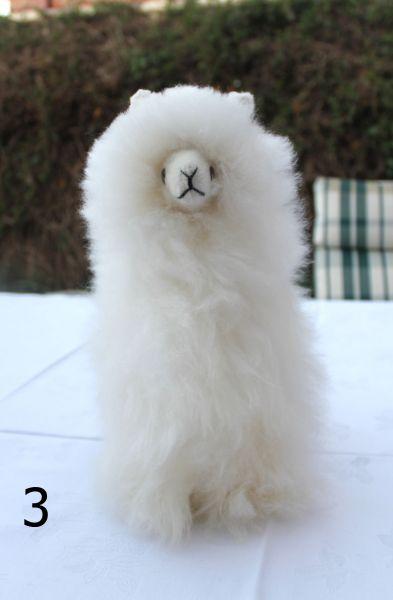Fluffy Stuffed Llama Toy- Plush white