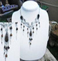 Alpaca silver necklace with tiger's eye