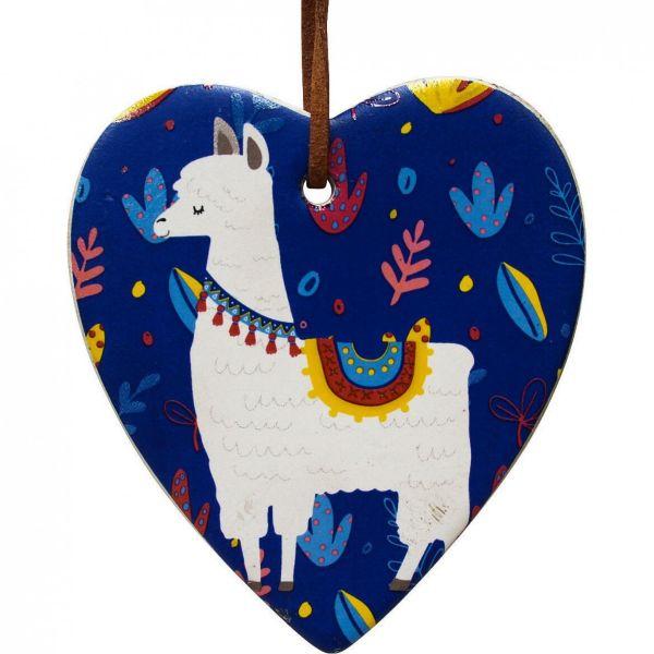 Hanging Heart Llama