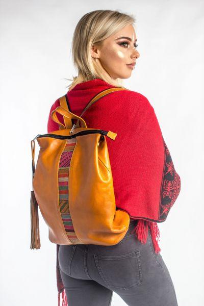 Leather Back Pack/ Shoulder Bag