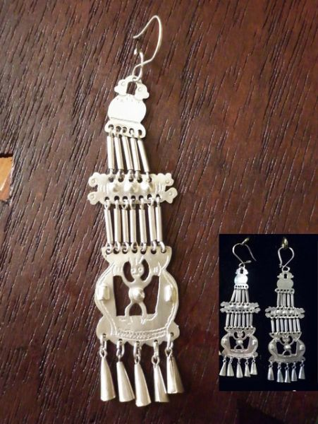 Mapuche Earrings- Sterling silver