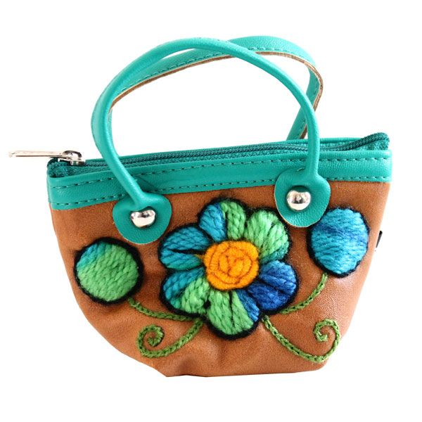 mini hand bag flowers