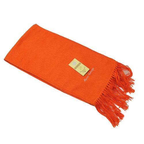 alpaca blend scarf orange