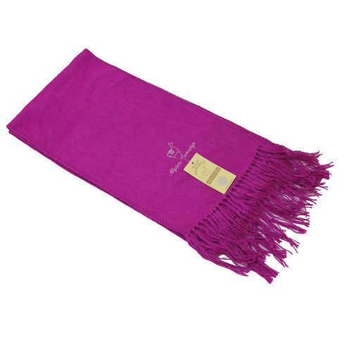 fuchsia pink alpaca blend scarf