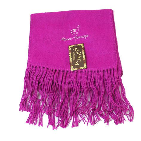 fuchsia pink scarf