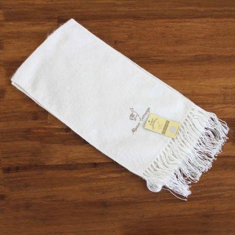 alpaca blend scarf white